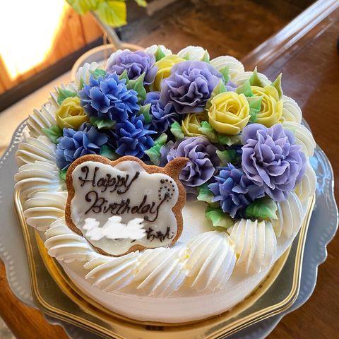 フラワーアートケーキ
