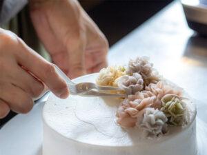 長浜のオーダーケーキのお店トロンの餡フラワーケーキ